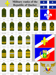 Military ranks of the Republic of Quebec by gamella
