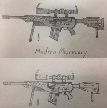 First rifle design by ModernMercenary