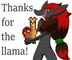 Thanks for the llama! (Redo) by SPQR21