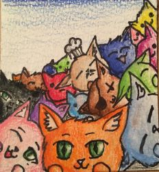 Pile of Cats by Tinytigers11