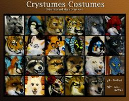 End of 2014 mask compilation by Crystumes