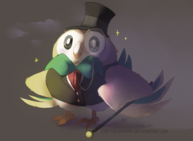Rowlet! by Ink-Leviathan