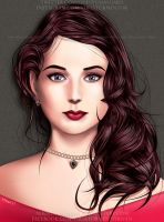 Wavy-haired girl by Virus-Tormentor