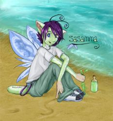 Sasamma In the Sand by ancelic