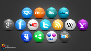 Social media icons by Almoutasemz