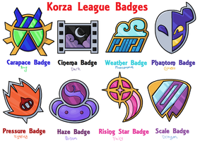 Korza League: Badges by Coonae