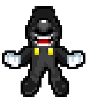 Dark Mario (SMBUniverse Palette) by SuperShadeMario