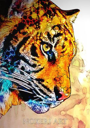 Tiger - portrait. by Noxeri