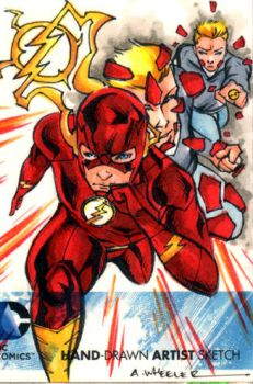 DC NEW 52 Flash Sketchcard by wheels9696