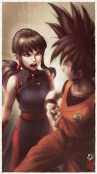 Chichi vs Goku by Kanchiyo