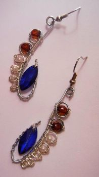 art nouveau earrings by JustyskaSay