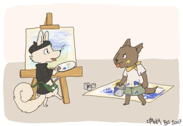 Painting with Cappotto + Uwagi by tehzel
