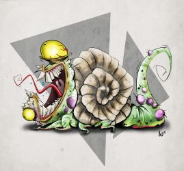 Snail Monster by AngelOnofre