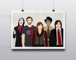 IT Crowd - Minimalist Poster Art by Posteritty