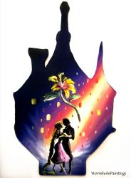 Tangled silhouette by WormholePaintings