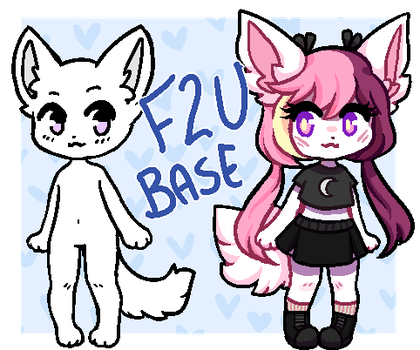 F2U ANTHRO BASE [PAINT/SAI/PHOTOSHOP/ETC] by laribun