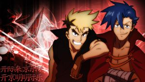 Gurren Lagann Kamina and Kittan Wallpaper by TygerxL