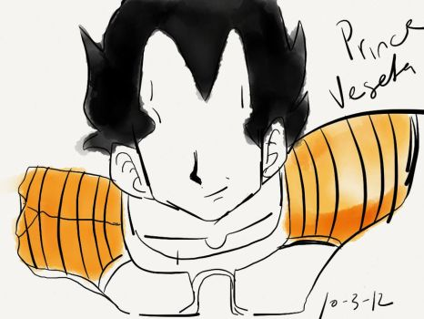 Vegeta on iPad by SesshosGirl