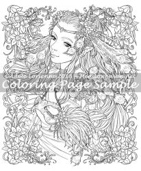 MeadowHaven Coloring Page:Feather-Light Masquerade by Saimain