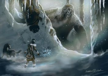 Shadow of the Colossus winter by Furgur