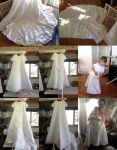 Wedding Dress to Two Christening Dresses by pinkythepink