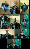Midna from Zelda twilight princess (statue) by Daelyth