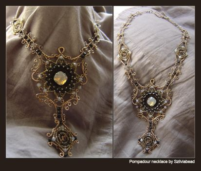 Pompadour necklace by bodaszilvia