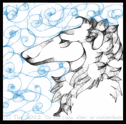 Winter Borzoi by tyreenya