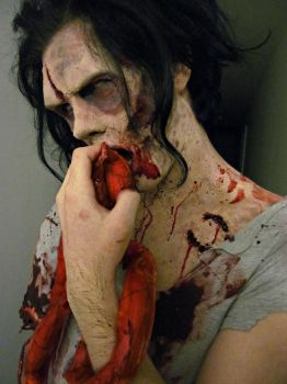 Zombie gelatin prosthetic by KRSkreations