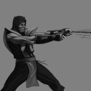 Scorpion sketch_Spear pull by gabe687