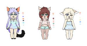 Adoptables SOLD by ukaine