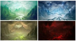 Disciples II inspired landscapes by yusa-ryo
