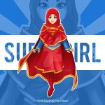 Hijab Supergirl by RIDJAM