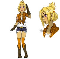 Human Chica by squishe-pie