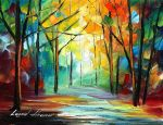 The path of sunbeams by Leonid Afremov