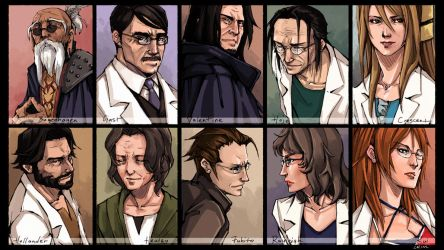 FFVII - The Scientists, Mark II by CrimsonSun