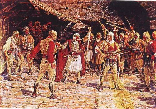 The Albania Warrior Talking In 1798 by eduartinehistorise