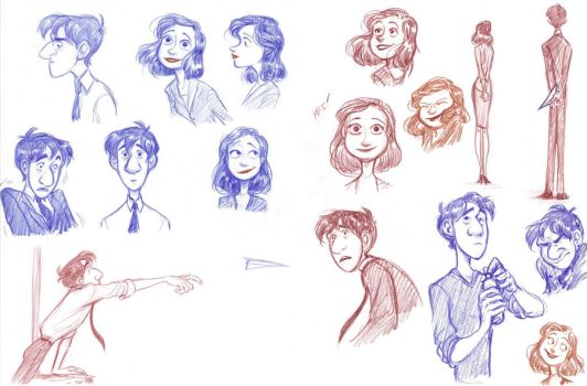 Paperman sketches 1 by Bonka-chan