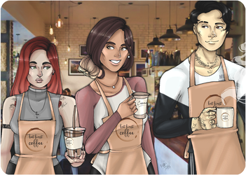 Coffee Shop Kids by SweetlyViolent
