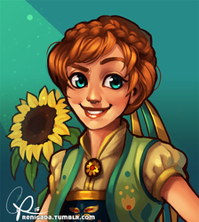 Anna from Frozen Fever by CPatten