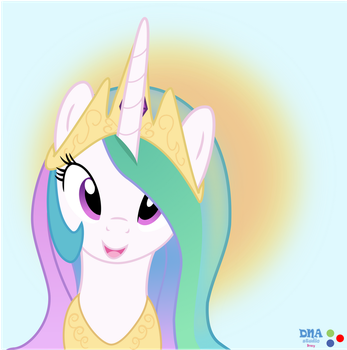 Celestia mlp draw (especial vector) DNA by Meyling525