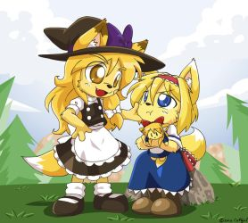 Marisa and Alice kemo style by Coffgirl