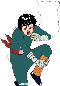 Rock Lee - Colored by SketchyOne