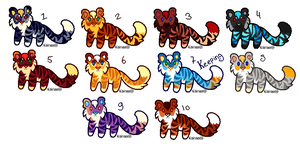 Little Tiger Adoptables 1 LEFT! by Maonii