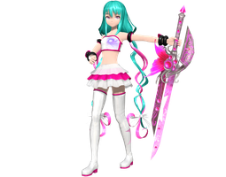 .:Battle Galattica Miku:. with DL by Luke-Flame