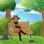 Quiet place by Fox-mutts