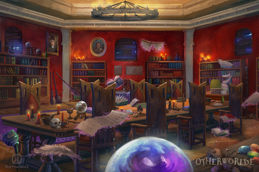 Hexing Classroom by MalthusWolf