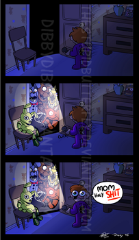 Freddy's In the Closet by theStupidButterfly