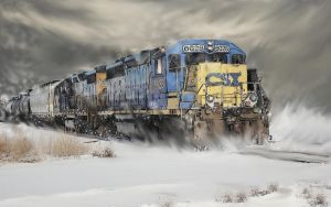 Winter Diesel in the Prairieland by zulumike