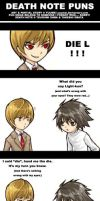 DEATH NOTE PUNS by yuumei